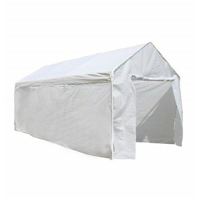 ALEKO 10'X20' Steel Frame Carport Kit Party Tent Polyethylene Removable Walls, used for sale  Shipping to South Africa