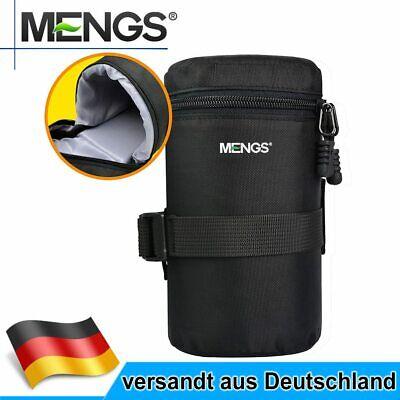 MENGS FY-3 800D Nylon Gepolsterte Objektiv Tasche Mit Befestigungsgurt Für Canon