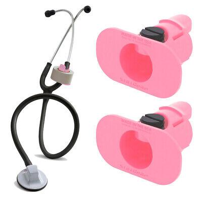 2 Pack Of Pink S3 Stethoscope Tape Holders - Littman Nursing Scrubs Ems Emt