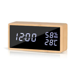 GEERTOP Adjustable Digital Alarm Clock for Bedrooms LED Display Desk Clock Time