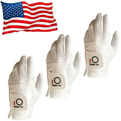 Mens Golf Gloves Large Left Hand S M XL Rain Grip Black White 3 Pack Titleist