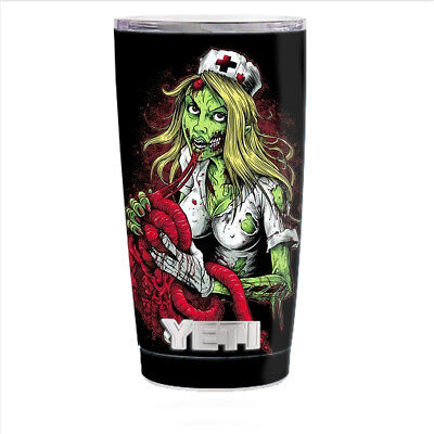 Skin Decal for Yeti 20 oz Rambler Tumbler Cup / Zombie Nurse