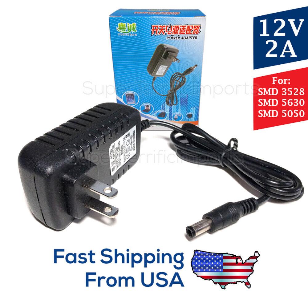 Купить Unbranded - 12V 2A LED Light Strip Power Supply 🔌🔆, 24W AC Adapter, SMD 3528, 5630, 5050