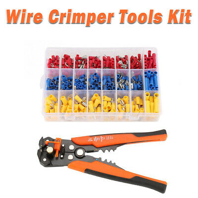 Crimper Pliers Crimping Tool Set Cable Wire Electrical Terminal 400pcs Cutter