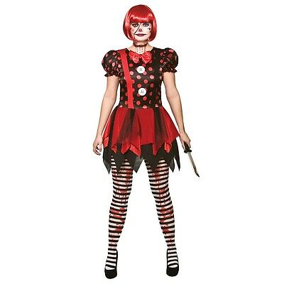 NEW Horror Clown - Ladies Zombie Dead Halloween Fancy Dress Costume Outfit - Halloween Costumes Dead Clowns