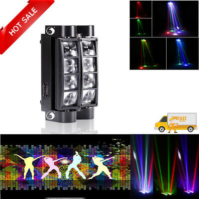 80W RGBW 8LED Spider Moving Head Light DMX Stage Lighting For DJ Disco Party KTV