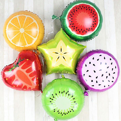 12 Pc Fruits Watermelon Kiwi Orange Strawberry Balloon Party Supplies pineapple - Watermelon Party Supplies