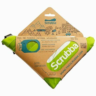 SCRUBBA Portable Laundry Washing Machine Wash Bag Camping Travel Kit Clean New