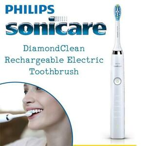 NEW Philips Sonicare DiamondClean Rechargeable Electric Toothbrush with 5 Brushing Modes and USB Travel Case, White, ...