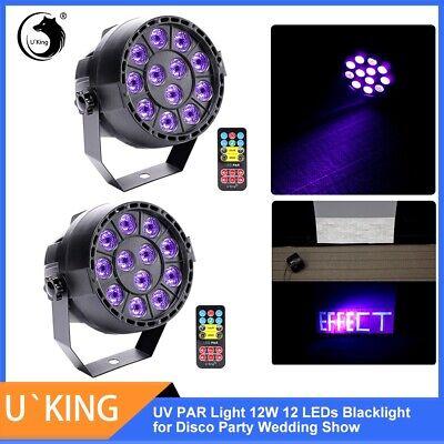 2X UV Schwarzlicht 12 LED DMX Bühnenbeleuchtung Licht-Effekte Party DJ Disco