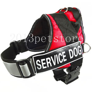 Dog Harness Service Reflective Vest with Handle Soft Velcro Patches SERVICE DOG