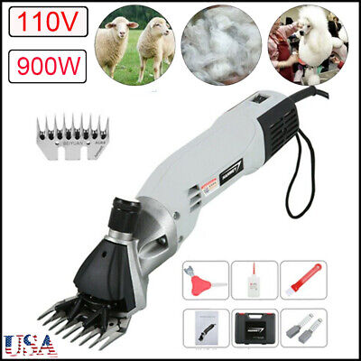 110v 900w Electric Sheep Shears Wool Scissors Goat Shearing Animal Grooming Usa