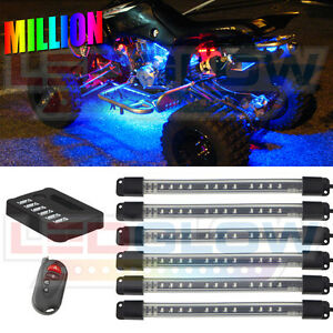 LEDGLOW-6PC-FLEX-MILLION-COLOR-ATV-QUAD-LED-NEON-LIGHTING-KIT-w-72-LEDs