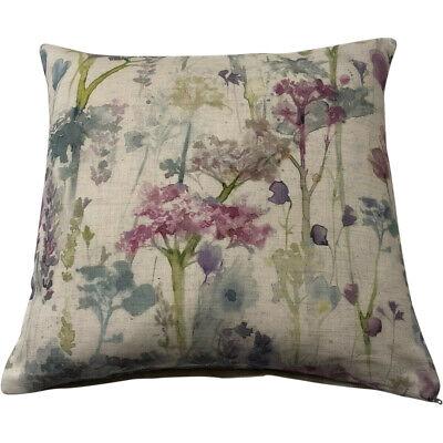 "Voyage Maison 16"" Linen Cushion Covers - ""Ilinizas Summer Natural""   Floral/Pink"