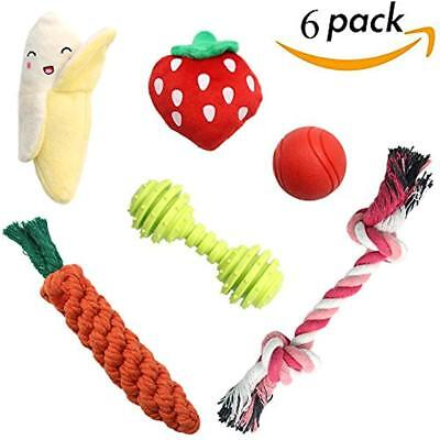 SCENEREAL Best Small Dog Chew Toys - Cute Durable Stuffed Plush Rope Puppy For