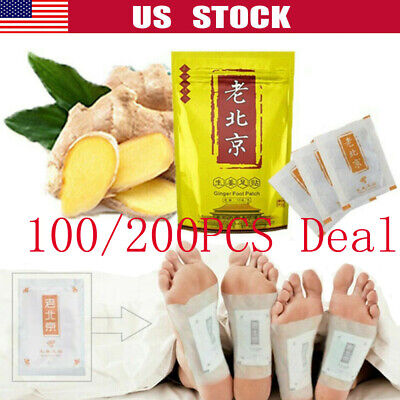 200PCS Detox Foot Pads Patch Detoxify Toxins Slim Keeping Fit with Adhesive New