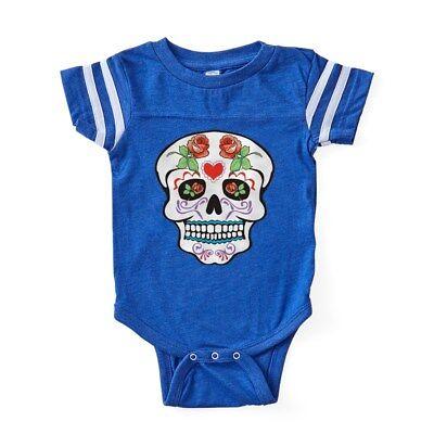CafePress Sugar Skull Baby Football Bodysuit
