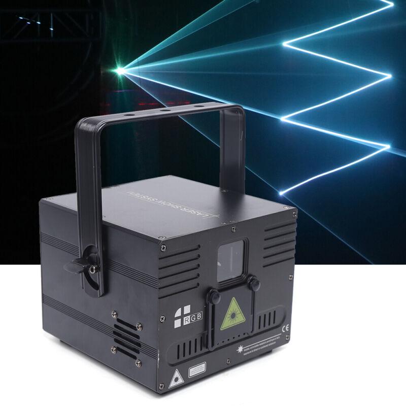 White Animation Laser 1000mW Projector Light DMX512 ILDA DJ Party Stage Lighting