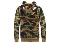 Bape full zip up military hoodie LIMITED EDTION