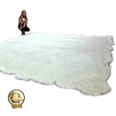 Thick New Fleece Faux Fur Area Rug / Large Shag Fake Sheepsk