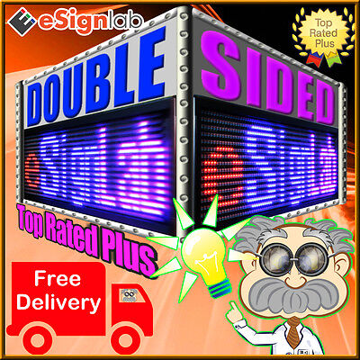 Rbp 19 X 69 Double-sided Outdoor Programmable Scrolling Led Sign 25mm