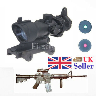 1x32 Red/Green Dot Tactical Illumination ACOG Style Rifle Sight Scope Airsoft A+ for sale  United Kingdom