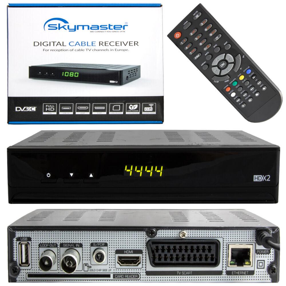HD Ricevitore digitale via cavo HDTV unitymedia di collegamento DVB-C SCART HDMI
