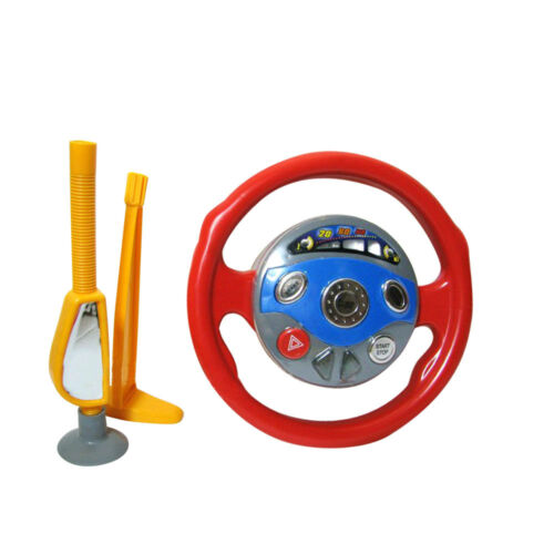 Child Back Seat Car Steering Wheel Driving Game Toys Horn