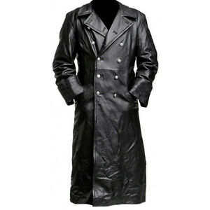 WW2 German leather trench coat - LARGE SIZE SUITABLE FOR 40-42 CHEST OFFER PRICE