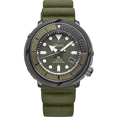 Seiko Men's Prospex 47 mm Diver's Solar Watch w/ Silicone Strap