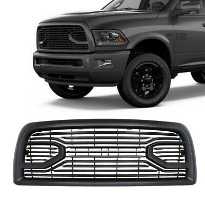 Fit 2013-18 DODGE RAM 2500 3500 Matte Black Front Grille W/All Letters
