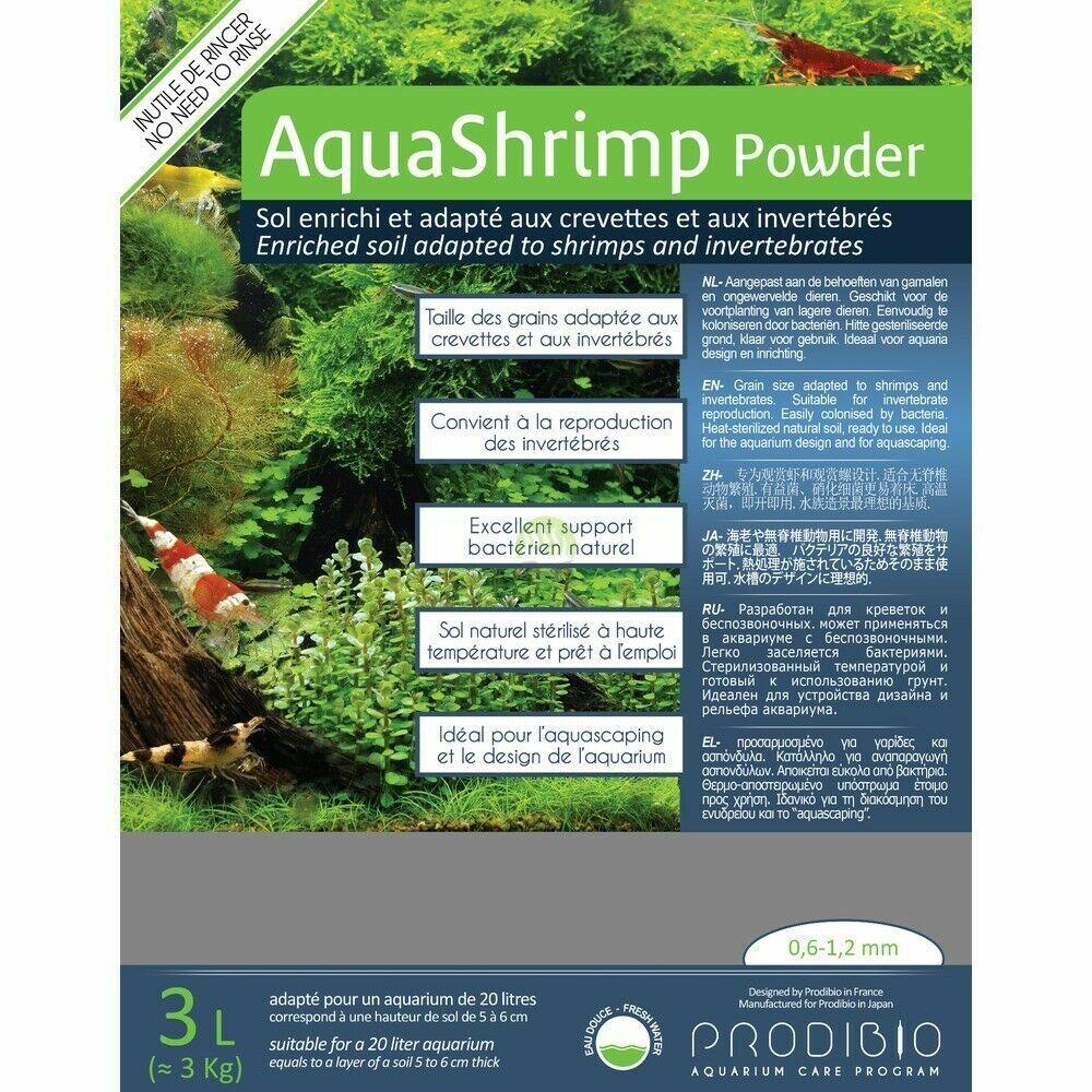 Prodibio Aqua Shrimp Powder 3L Soil Aquarium Substrate
