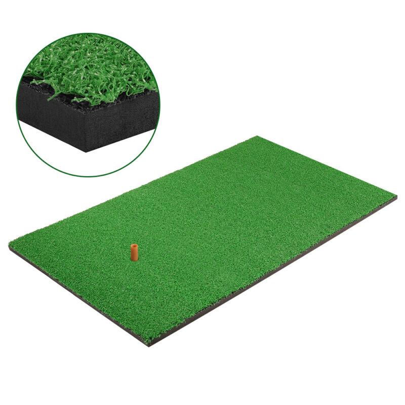 Golf Practice Grass Mat Backyard Training Hitting Golf Mat W/ Tee Indoor Outdoor