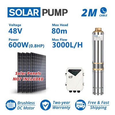 3 Dc Deep Well Solar Water Pump 48v 600w Bore Hole Submersible Mppt Controller