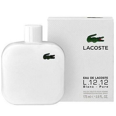 Eau de LACOSTE L.12.12 BLANC PURE cologne men EDT 5.9 oz NEW IN BOX