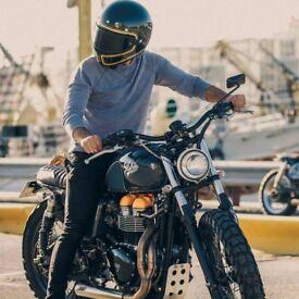 Motorbike Helmet: NEXX XG100 DEVON HELMET - BLACK and Gold. Brand New
