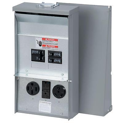 50 Amp 3-space 3-circuit 120240-volt Unmetered Rv Outlet-box 503020-amp Gfci