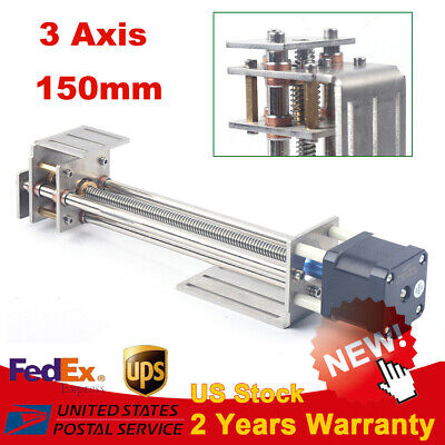 Cnc Z Axis Slide 3 Axis Engraving Diy Milling Linear Motion With Stepper Motor