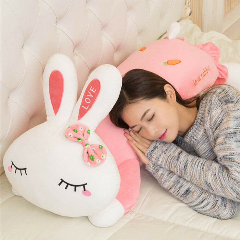 Details about Giant Soft Plush Bunny Rabbit Pillow Toys Big Stuffed Animals Pink Doll Gifts UK