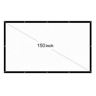 Schermo Proiezione Videoproiettore 150'' Telo Proiettore Portatile Bianco HD 4K