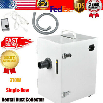 Dental Digital Single-row Dust Collector Vacuum Cleaner 370w For Lab 110v