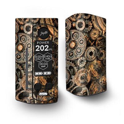 Skin Decal for Wismec Reuleaux RX Gen3 Dual Vape / Old Gears Steampunk Patina