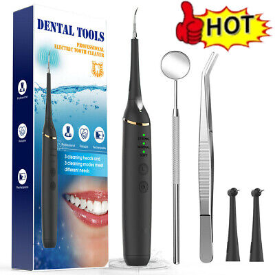 Usb Electric Ultrasonic Dental Calculus Remover Tooth Whitening Cleaner Tool Kit