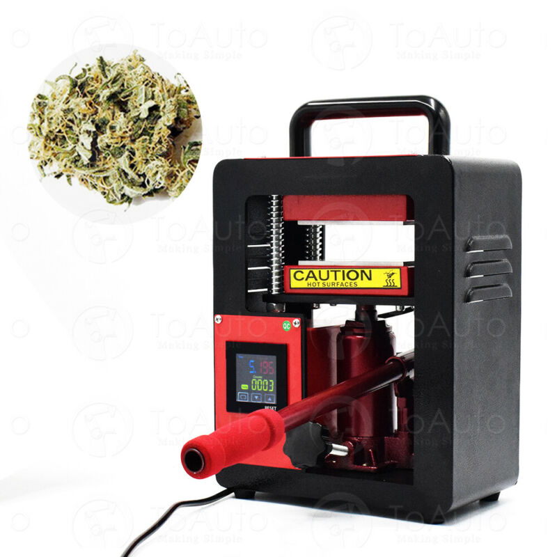"Personal 5 Ton Hydraulic Rosin Press Machine | Dual 2.4x4.7"" Rosin Press Plates"