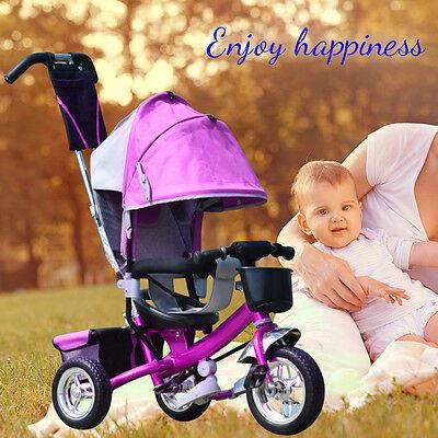 Kinderdreirad Dreirad Fahrrad Baby Schubstange Kleinkinder Dreiräder Schieber DE
