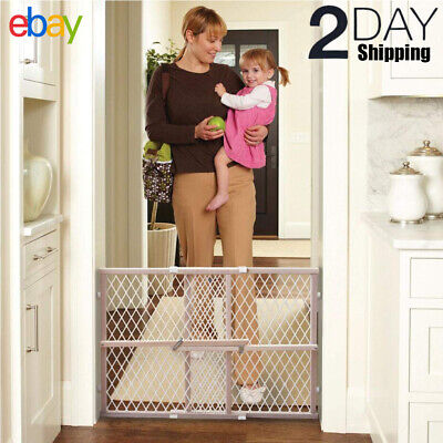 Baby Gate Safety Fence Child Protection Wood Door Dog Cat Pet Barrier Stairways