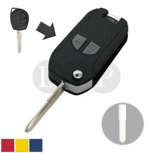 Refit Flip Remote Key Case Fob Shell fit for SUZUKI SX4 Swift Vitara 2 Buttons