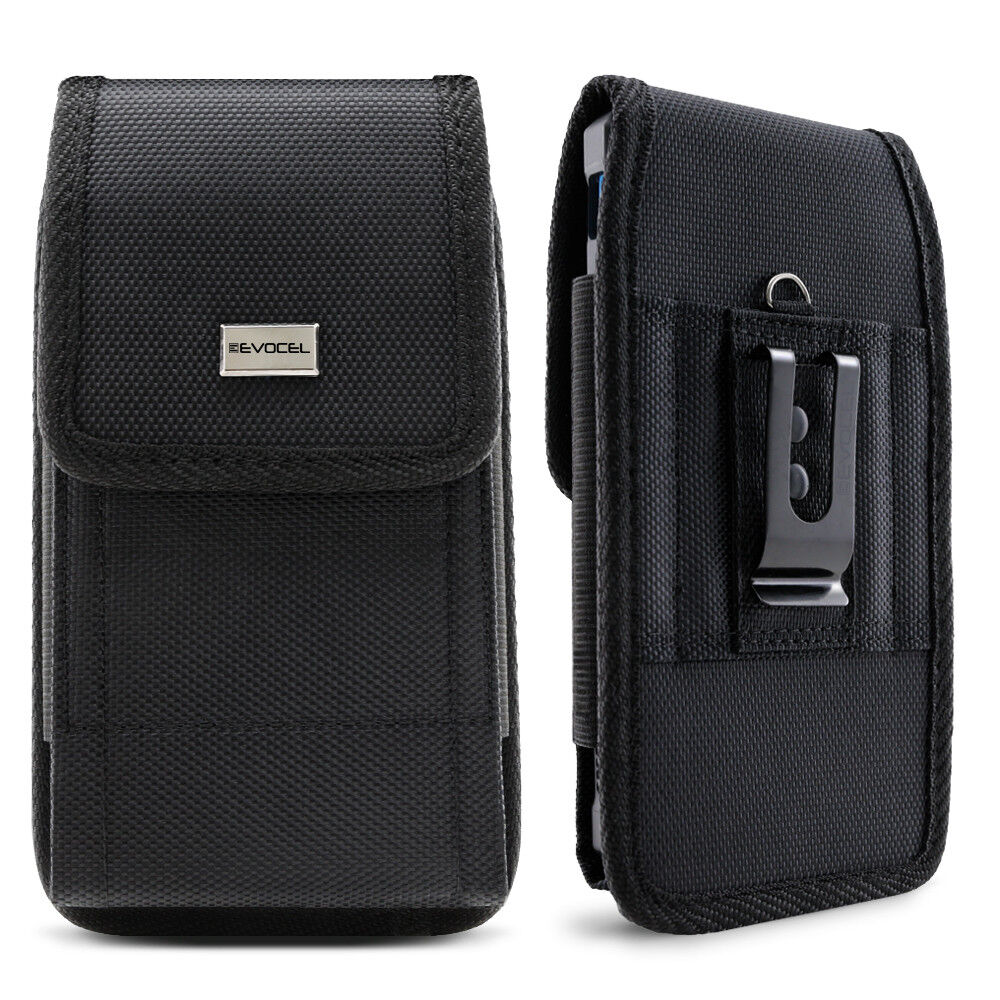 Cell Phone Pouch with Belt Loop and Metal Clip Holster  - Ev