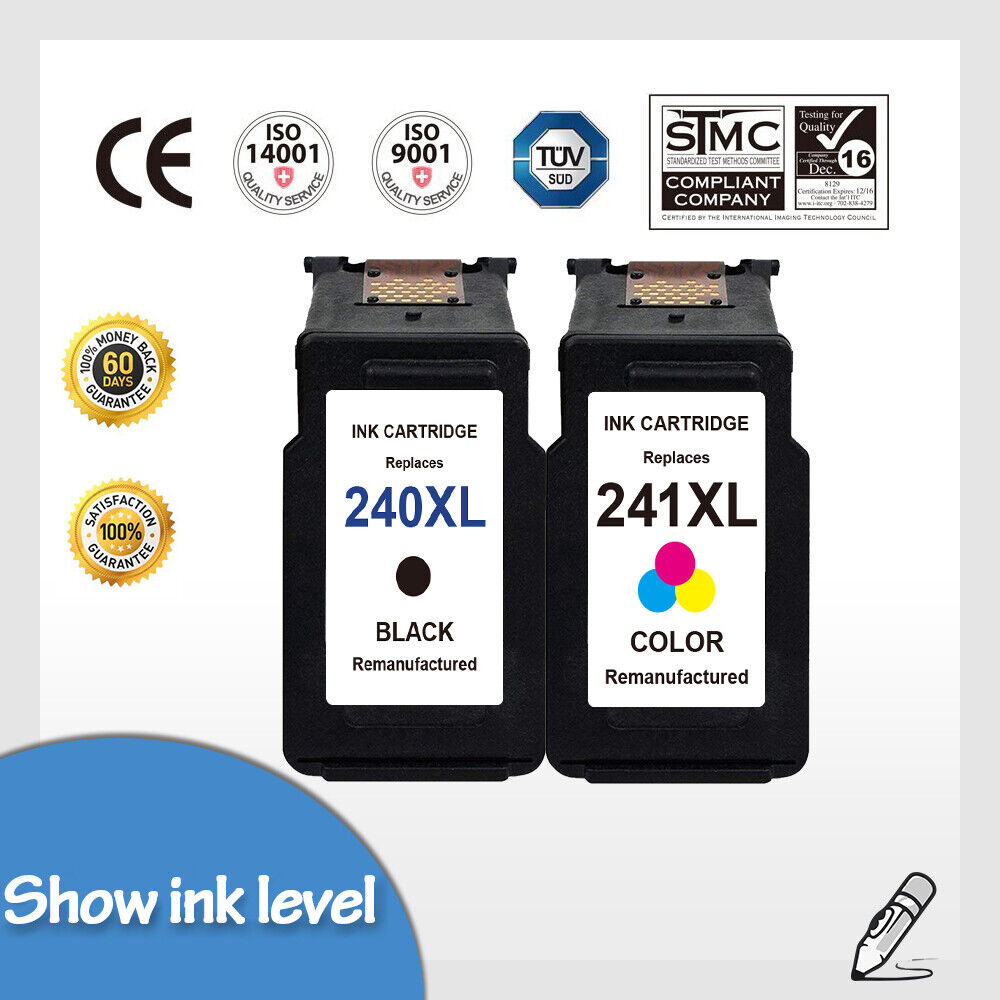 PG-240XL /& CL-241 XL Black /& Color Ink Cartridge for Canon PIXMA MG2120 MG2140