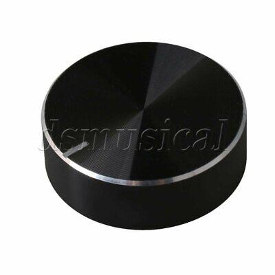 Aluminum Alloy Potentiometer Volume Knob 6mm Hole Non-slip Design Black